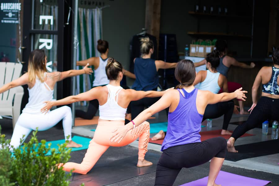 Benefits of yoga practice in a group