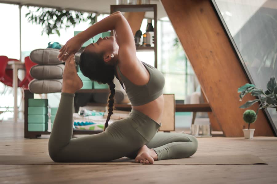Stretching and meditation as a part of yoga
